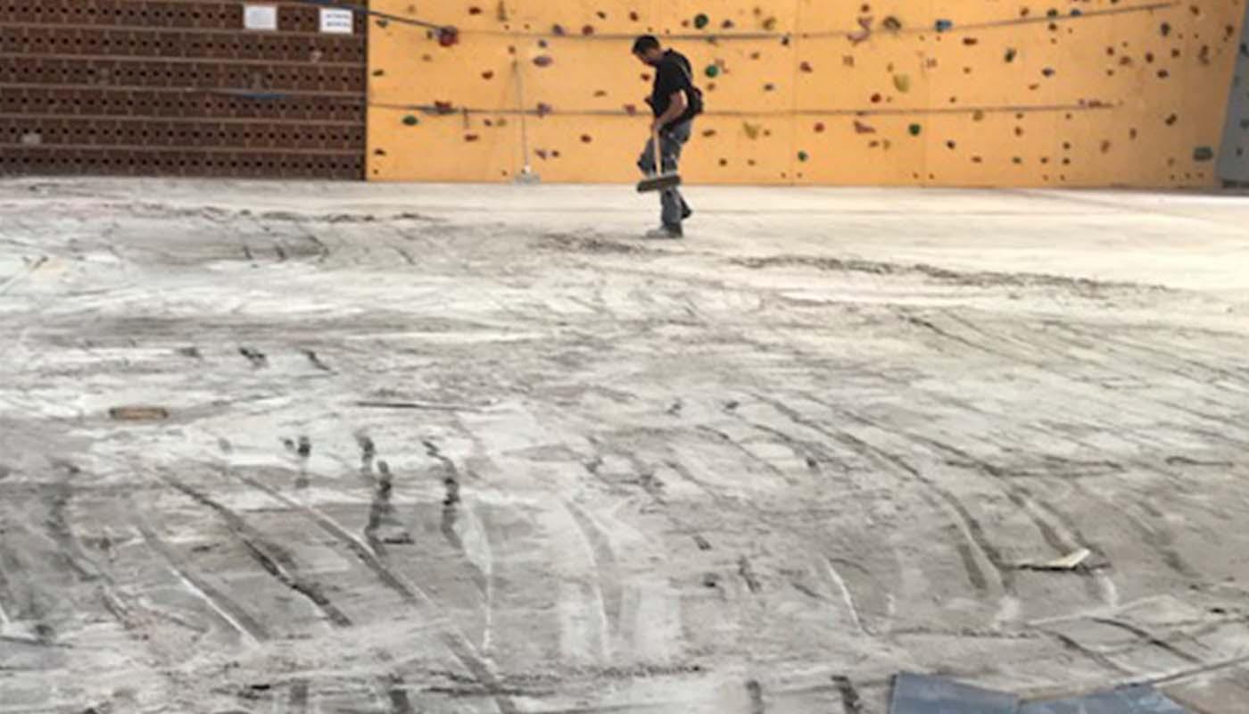 Réalisations en revêtements de sols salles de sport Avant